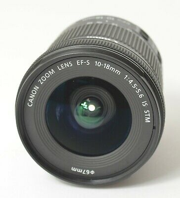 Canon EF-S 10-18mm f/4.5-5.6 IS STM Ultra Wide-Angle Zoom Lens For Canon DSLR