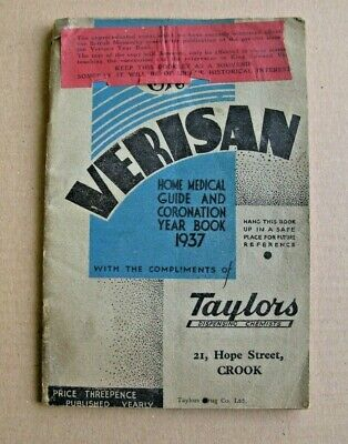 Verisan  - Home Medical Guide And Coronation Year Book 1937 / Abdication Errata