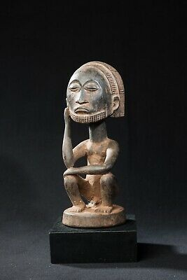 Bembe Male Ancestor Statue, D.R. Congo, Zambia, African Tribal Sculpture