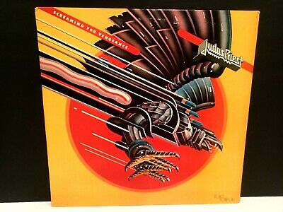Judas Priest - Screaming For Vengeance LP Early Press 1982 Rare Heavy Metal VG++