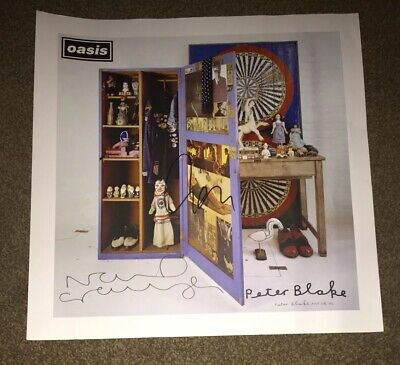 SIGNED OASIS STOP THE CLOCKS16x16 PROMO FLAT LIAM NOEL GALLAGHER SIR PETER BLAKE