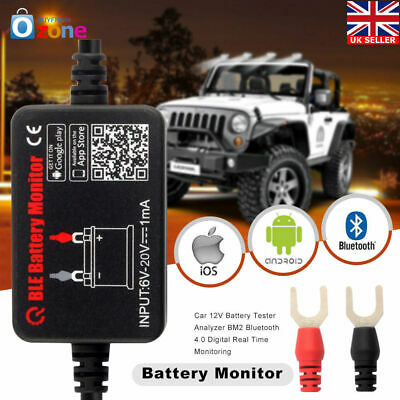 Battery Monitor BM2​​ Bluetooth 4.0 Device Car 12V Battery Tester Analyzer Tool