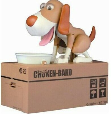 Cute Hungry Eating Dog Model Coin Piggybank Robotic Doggy Saving Money Box