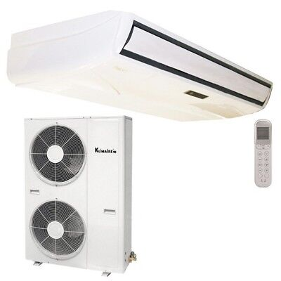 Klimaire 48000 BTU 17.8 SEER Ducted Recessed AC Fan Coil Unit Heat 15FT Kit