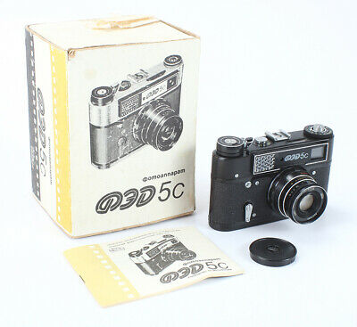 Fed 5C Black, 55/2.8 Industar-61 (Dust, Debris), Boxed, Some Issues/196981