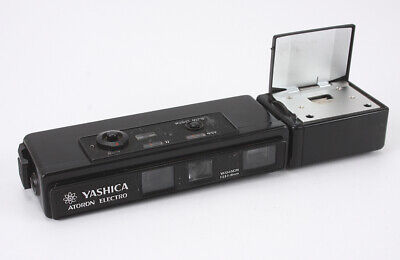 Yashica Atoron Electro Black, 18/2.8 Yashinon, Flash Untested/190022