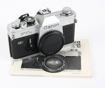 CANON FTb QL CHROME BODY, BOXED, SOME CAPPING, BAD BATTERY CHECK/193754