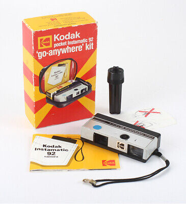 KODAK AUSTRALASIA POCKET INSTAMATIC 92, BOXED, BAD SHUTTER, AS-IS/cks/197815