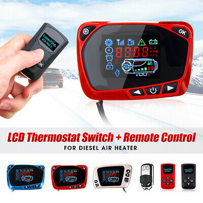 LCD Thermostat Display Switch Remote Controller f/ 12/24V Car Air Diesel Heater