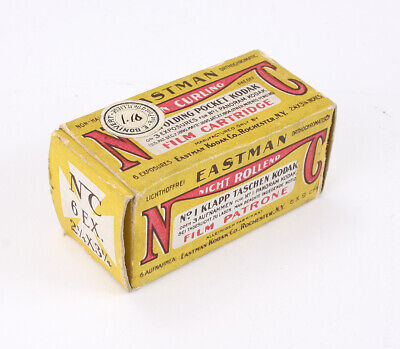KODAK NON-CURLING ORTHOCHROMATIC, BOXED, EXPIRED 1907, FOR DISPLAY/cks/206439