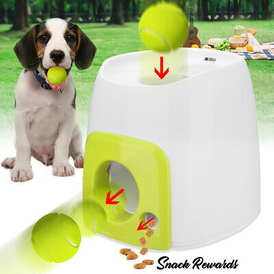 2PCS Automatic Interactive Pet Dog Tennis Ball Thrower Fetch Hyper Training Toys