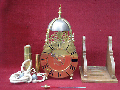 Fully Restored Fine Small 18 C French Brass Lantern Alarm Clock  Orig Verge Gwo