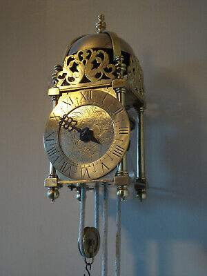 Very Nice Brass Verge Pendulum Lantern Clock Unknown Date Gwo