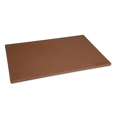 BROWN CUTTING CHOPPING BOARD LOW DENSITY PLASTIC 450 x 300mm COMMERCIAL CATERING