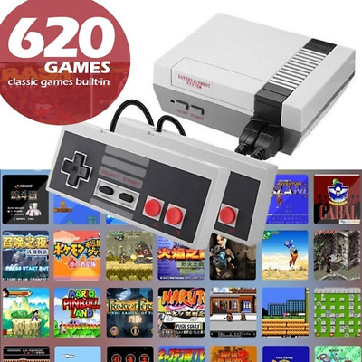 Built-in 620 Classic Games Retro Handheld 4 Keys Games Console Gifts for NES EU