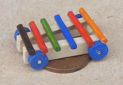 Dollhouse Miniatures 1:12 Scale Pull Toy Xylophone #IM65378