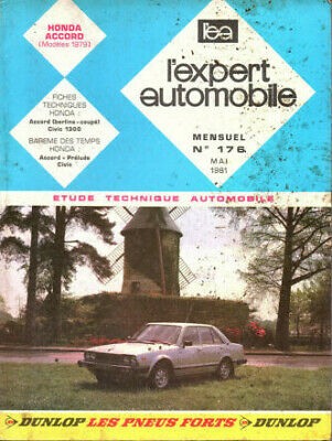 RTA revue technique automobile  n° 176 HONDA ACCORD 1979