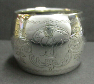 Antique Solid Silver Napkin Ring By J Sherwood & Sons - Birmingham 1910