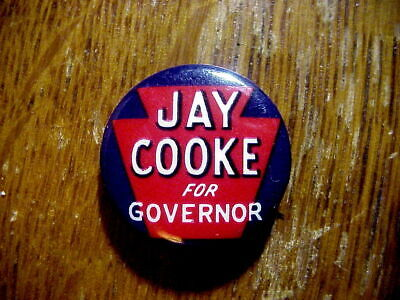 JAY COOKE for Governor 1950 Keystone PENNSYLVANIA CAMPAIGN BUTTON