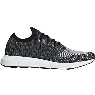 adidas Originals Mens Swift Run Prime Knit Lace Up Trainers Sneakers Shoes Black