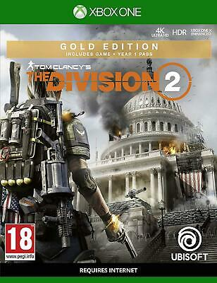 Tom Clancy's The Division 2 Gold Edition Xbox One Game Factory Sealed