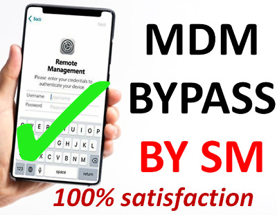 MDM BYPASS BY SM IPhone IPad IPod Iwatch S/N for iOS devices
