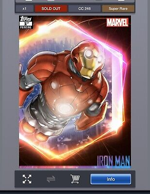 Topps marvel collect iron man Ultimate Universe 1st Printing [DIGITAL CARD]