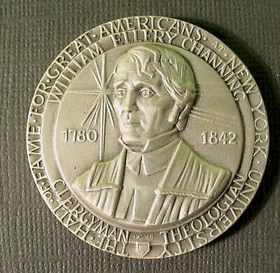 William E Channing Medallic Art Hall of Fame NYU .999 Fine Silver Medal #994