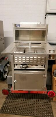 All Stainless Steel Street Hot Dog Concession Cart / Used Food Vending Cart for