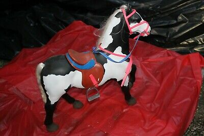 Vintage Large Toy Horse with Saddle and Reins