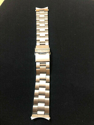 SEIKO SOLID STAINLESS STEEL WATCH STRAP/BAND WITH CURVED END LUGS 22mm