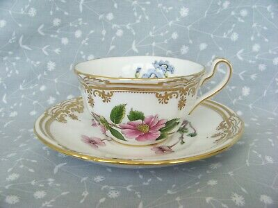 Spode bone china STAFFORD FLOWERS teacup and saucer set