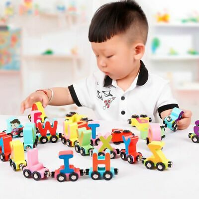 A-Z Personalised Wooden Letters Train Alphabet Name Toy Set Kids Christmas Gifts