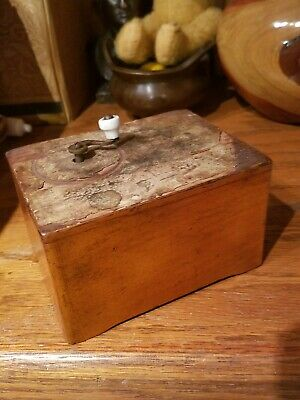 Terrific 18th Cent Germany Childrens Hand Cranked Music Box w/bottom inscription