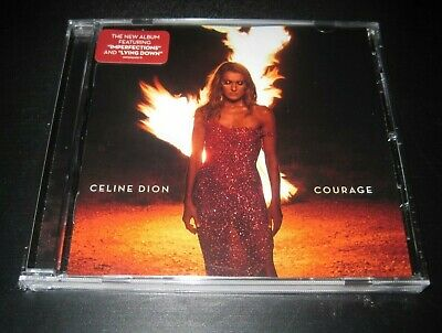 "Celine Dion cd album 2019 ""Courage"" sealed CRACKED CASE free shipping sealed"