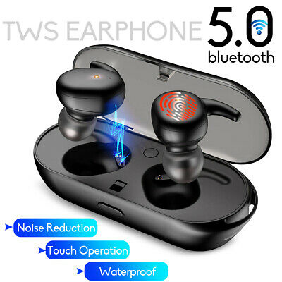 TWS Wireless bluetooth 5.0 Earphone Waterproof Headphone Noise Reduction Headset
