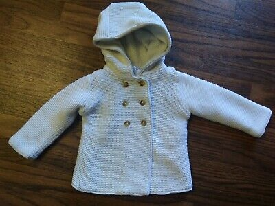 Carter's Girls Hooded Thick Fleece Lined Ivory Sweater Jacket Size 18 Months