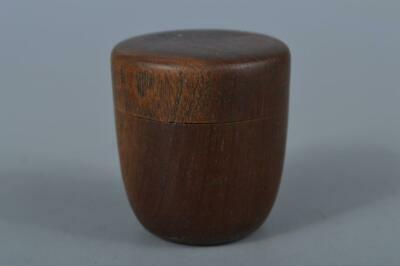 M163: Japanese Old Wooden TEA CADDY Natsume Chaire Container Tea Ceremony