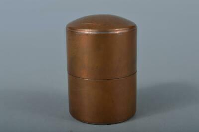 M754: Japanese Old Copper TEA CADDY Chaire Container Tea Ceremony