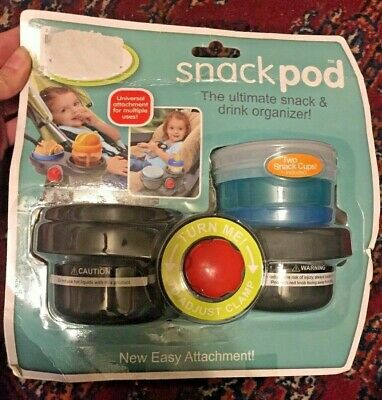 Safe Fit Snack Pod Snack & Drink Organizer Stroller CArseat New Universal