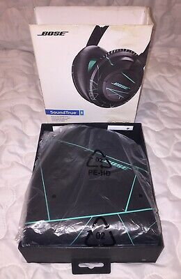 BOSE SoundTrue Around-Ear Style Headphones, Black/Mint