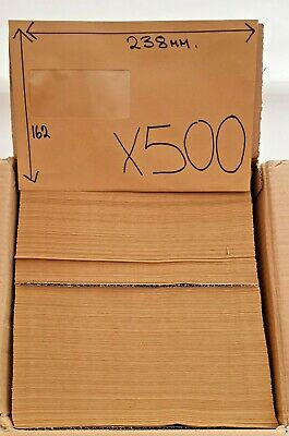500 Envelopes Window Gummed C5+ 162 X 238mm Manilla 90gsm Envelope Wallet