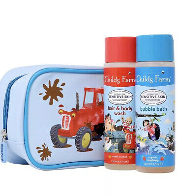 Childs Farm Tractor Washbag & Bubble Bath & Hair & Body Wash.