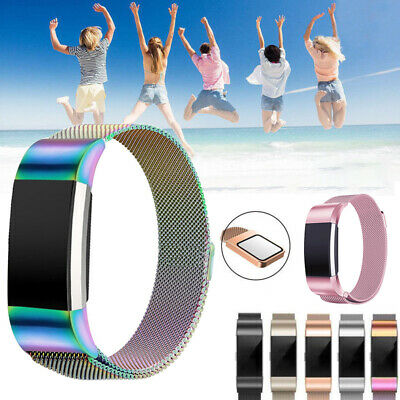 For Fitbit Charge 2 Band Metal Stainless Steel Milanese Loop Wristband Strap AU