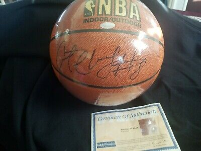 Antoine Walker Nba Genuine Authentic  Hand Signed Autographed Basketball Steiner