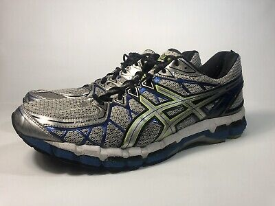 USED WORN SIZE 10.5, Width 2E Asics Gel Kayano 19 Shoes Gray