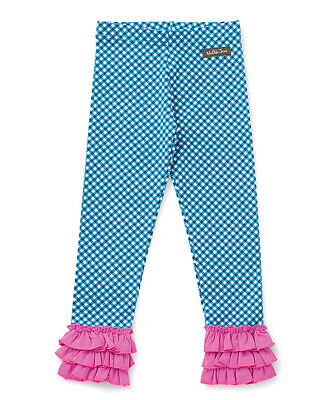 "NEW Girls' MATILDA JANE ""Strike A Pose"" Leggings 10 Blue Pin Dot NWT FREE SHIP"