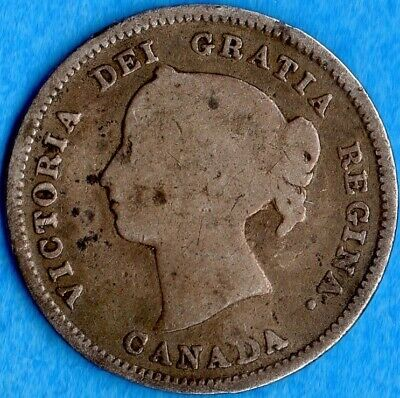 Canada 1888 5 Cents Five Cent Small Silver Coin - G/VG
