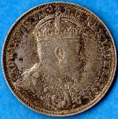Canada 1903 H 5 Cents Five Cent Small Silver Coin - EF