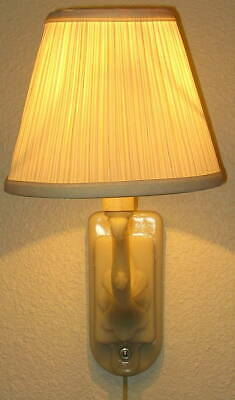 Vintage Aladdin Electric Ivory Alacite Pinup Wall Lamp No. G354